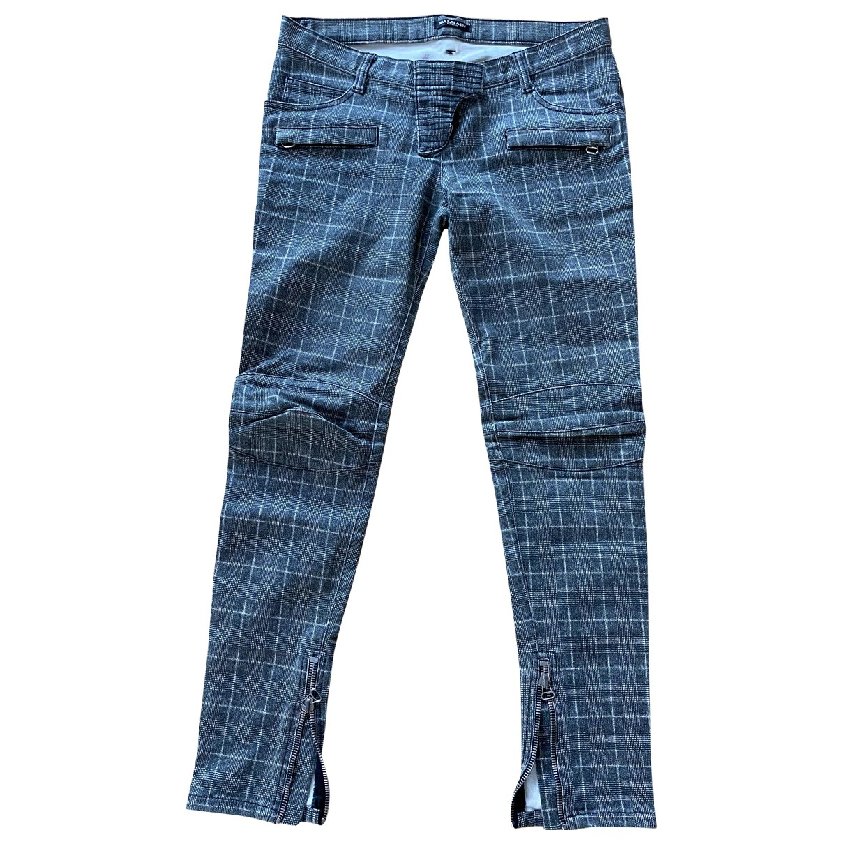 Balmain N Grey Cotton - elasthane Jeans for Women 40 FR