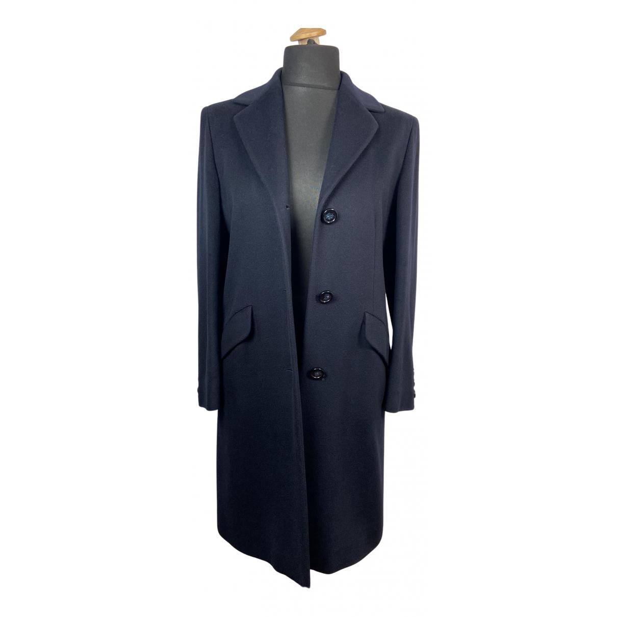 - Manteau   pour femme en cachemire - bleu