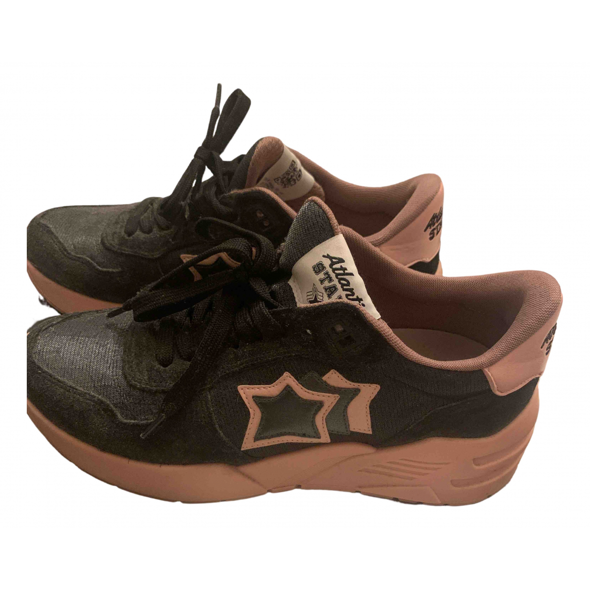 Atlantic Stars \N Sneakers in  Schwarz Leinen
