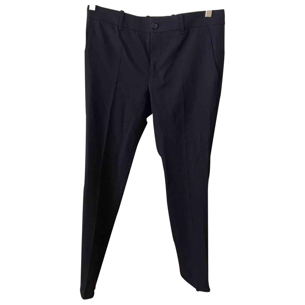 Gucci \N Black Wool Trousers for Women 38 IT