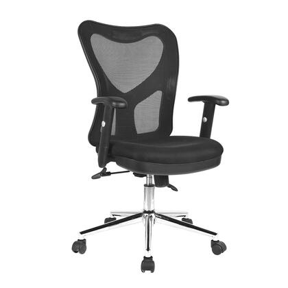 RTA-0098M-BK High Back Mesh Office Chair With Chrome Base  in
