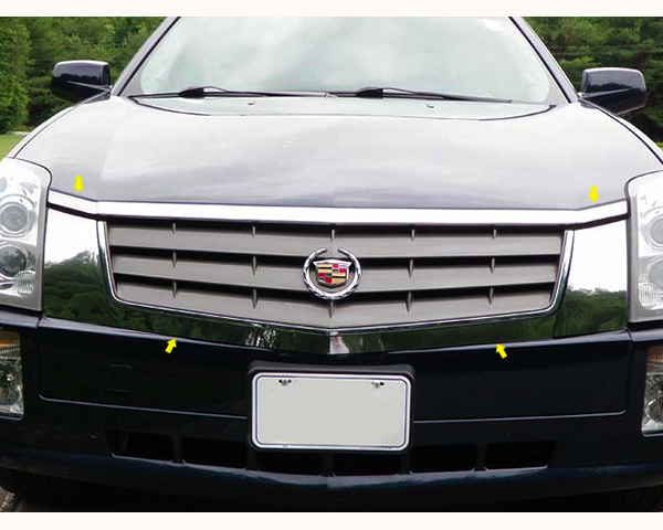 Quality Automotive Accessories Stainless Steel Grille Front Accent Trim Cadillac SRX 2007