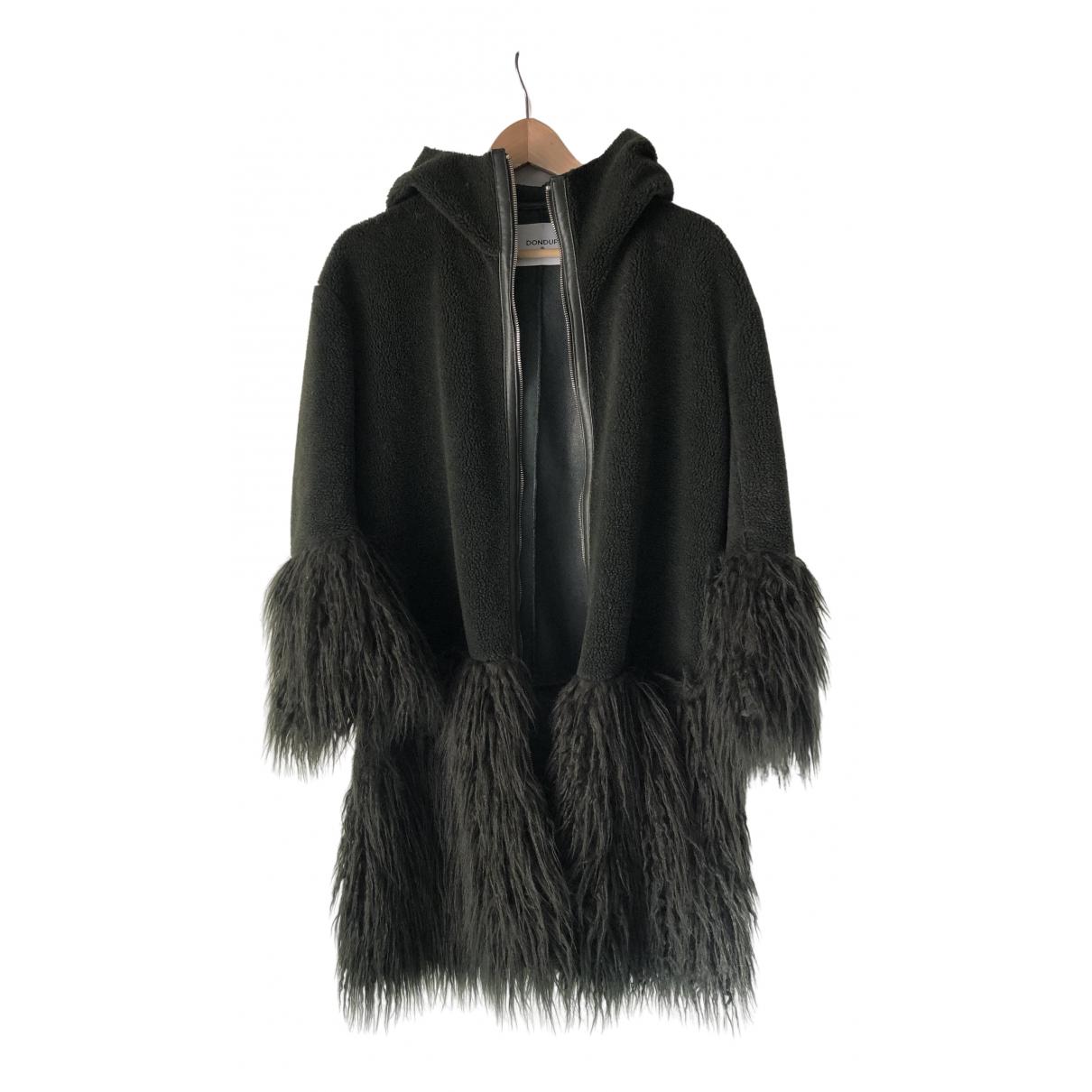 Dondup - Manteau   pour femme en fourrure synthetique - vert