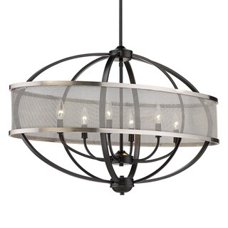 Colson Linear Pendant (Matte Black with Pewter)