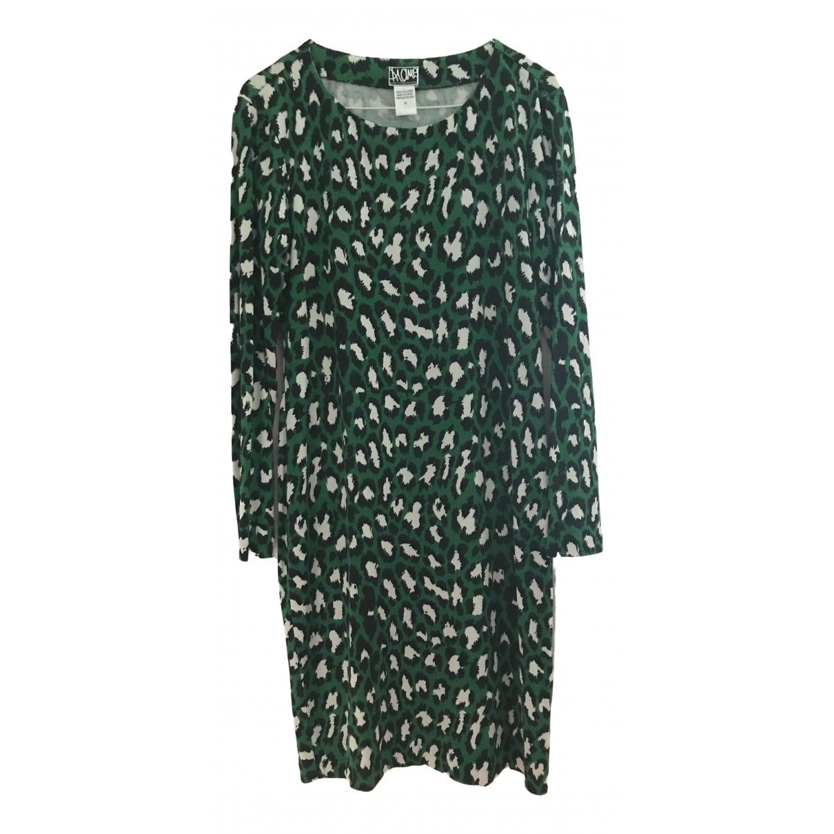 Diane Von Furstenberg \N Kleid in  Gruen Seide