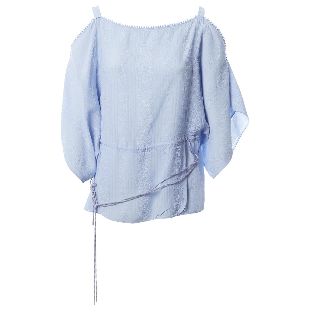 Vilshenko - Top   pour femme en soie - bleu