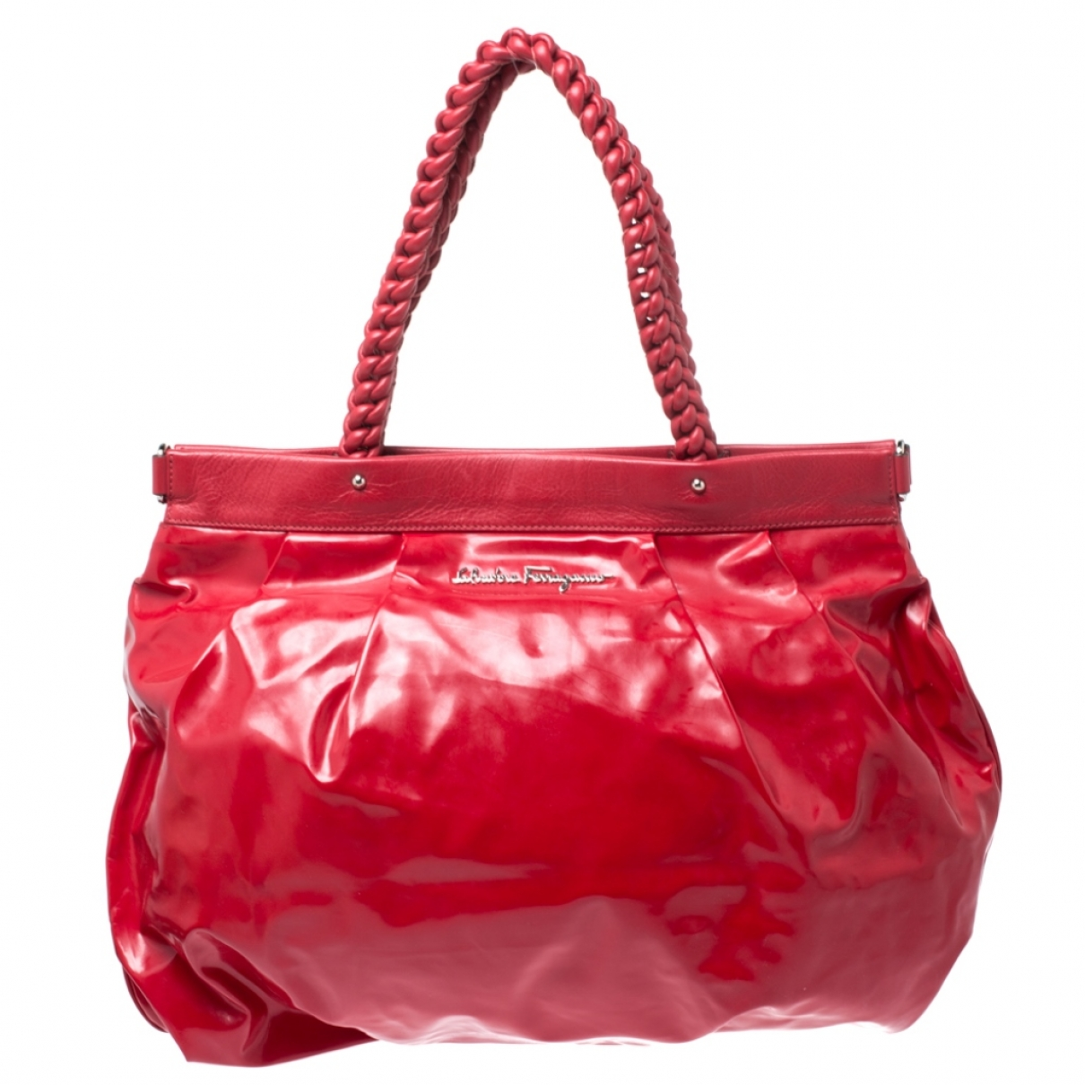 Salvatore Ferragamo \N Red Patent leather handbag for Women \N