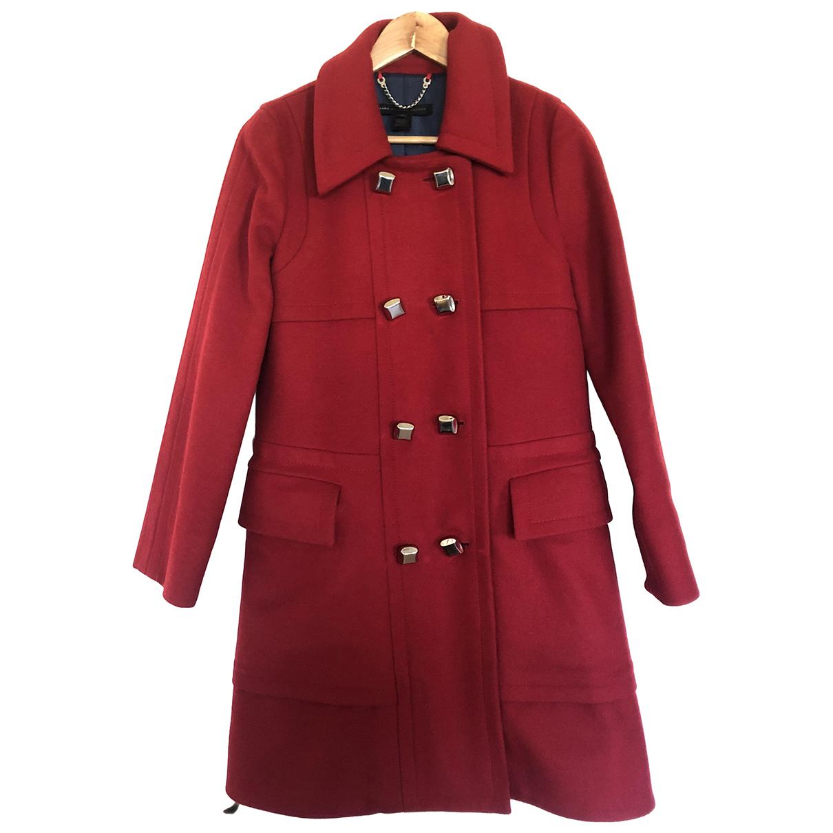 Marc By Marc Jacobs - Manteau   pour femme en laine - rouge
