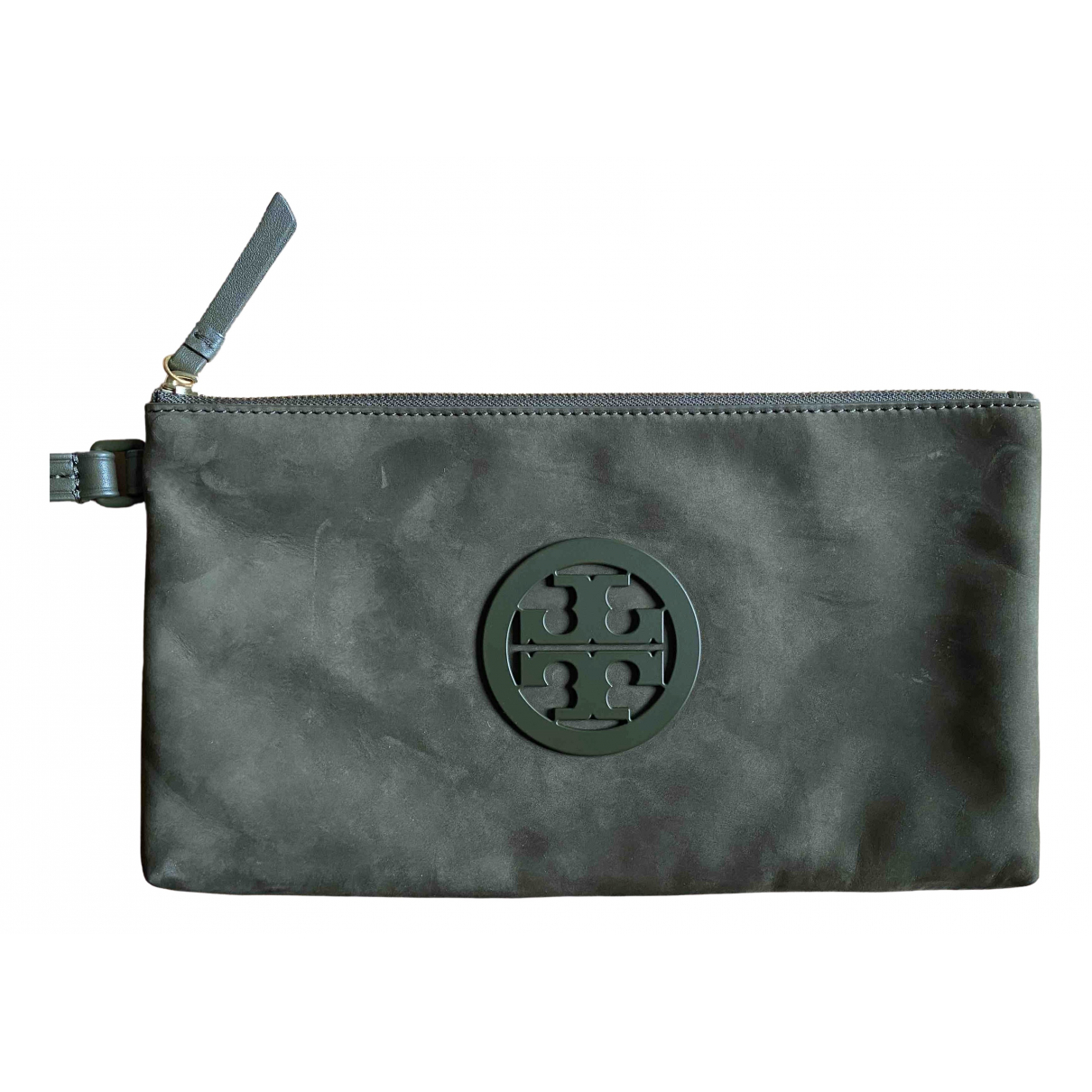 Tory Burch \N Khaki Leather Clutch bag for Women \N