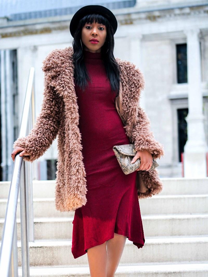 Ericdress Mid-Calf Bodycon Plain Women's Dress
