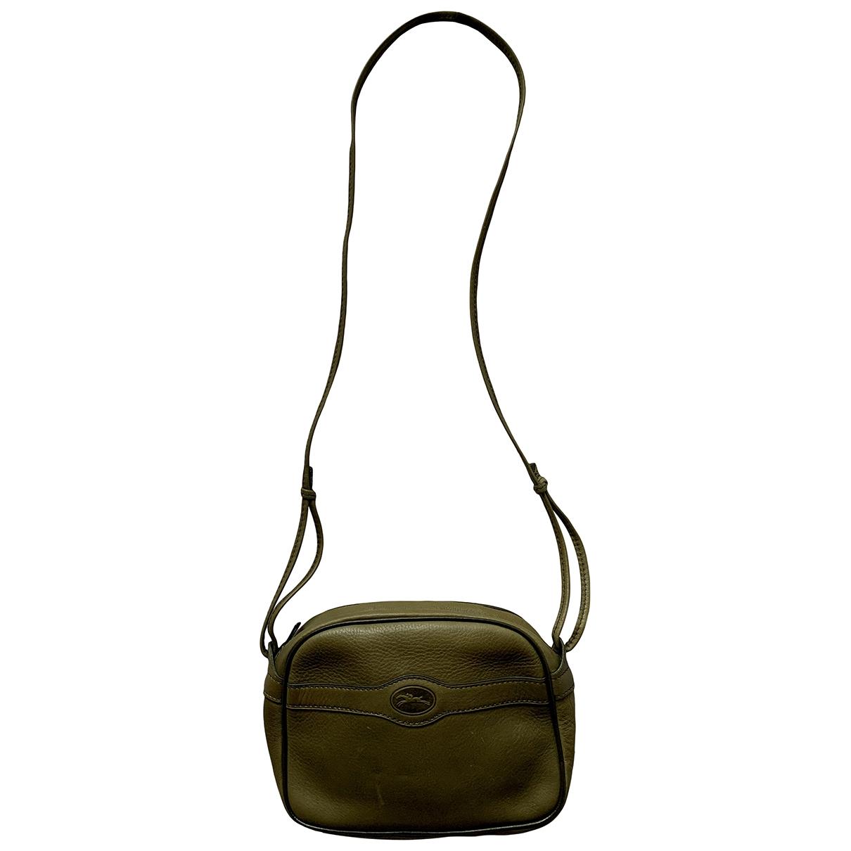 Longchamp \N Green Leather handbag for Women \N