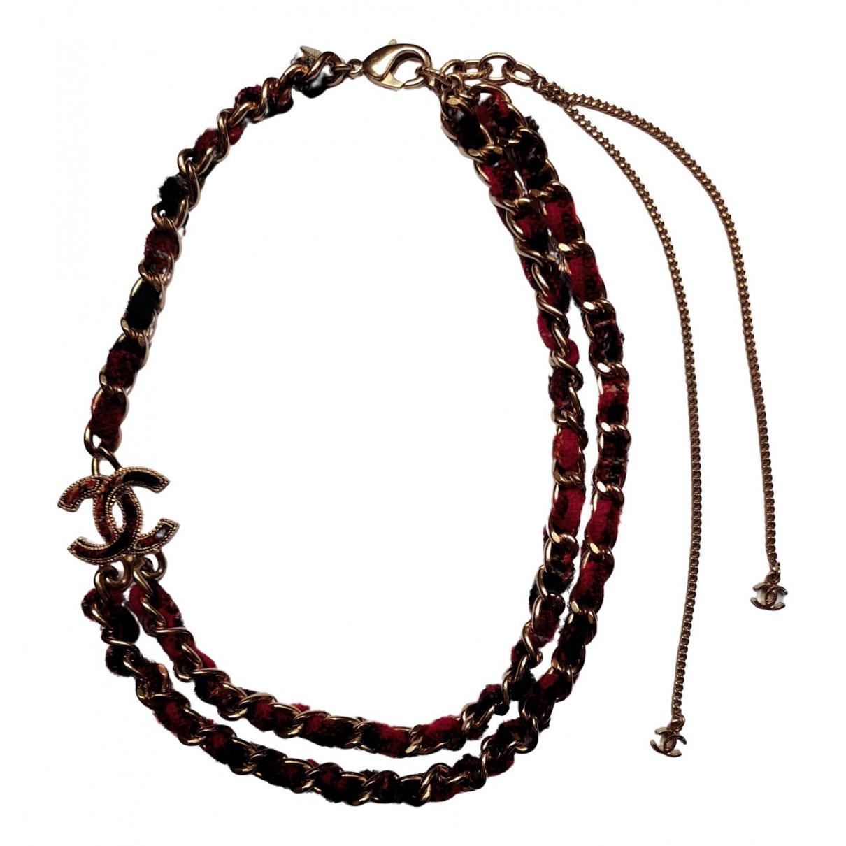 Chanel - Collier   pour femme en metal - rouge