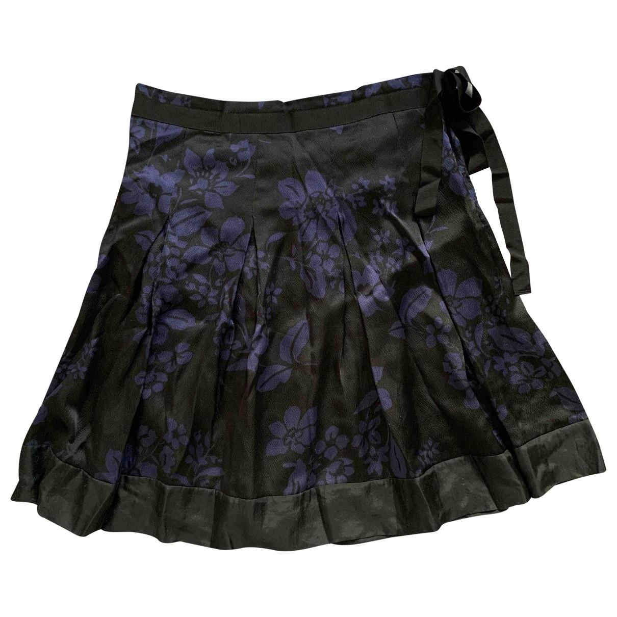 Jigsaw - Jupe   pour femme en soie - noir