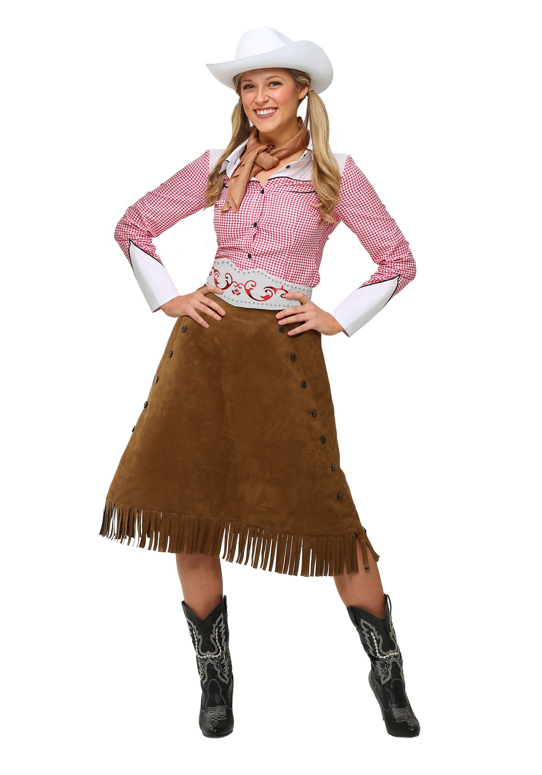 Plus Size Womens Rodeo Cowgirl Costume