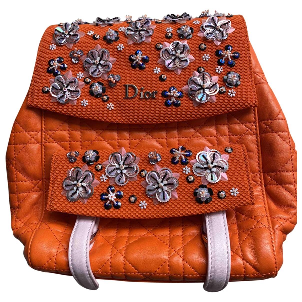 Dior \N Rucksaecke in  Orange Leder