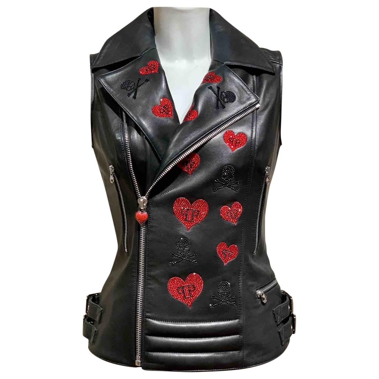 Philipp Plein \N Black Leather jacket for Women M International