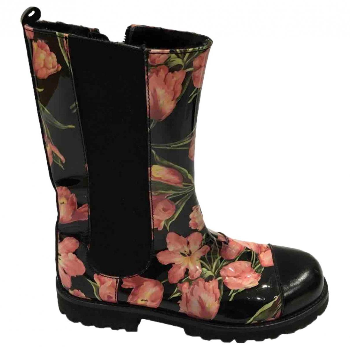 Dolce & Gabbana \N Black Rubber Boots for Kids 32 EU