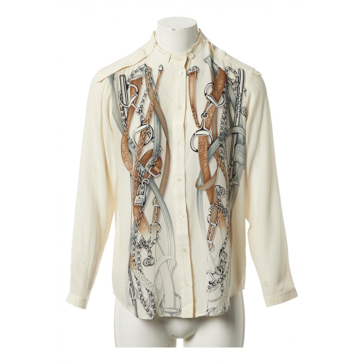 Gucci N Ecru Silk  top for Women 42 IT