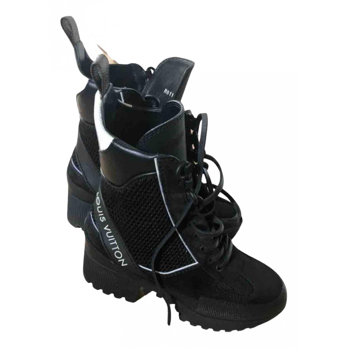 Louis Vuitton - Bottes   pour femme en cuir - noir