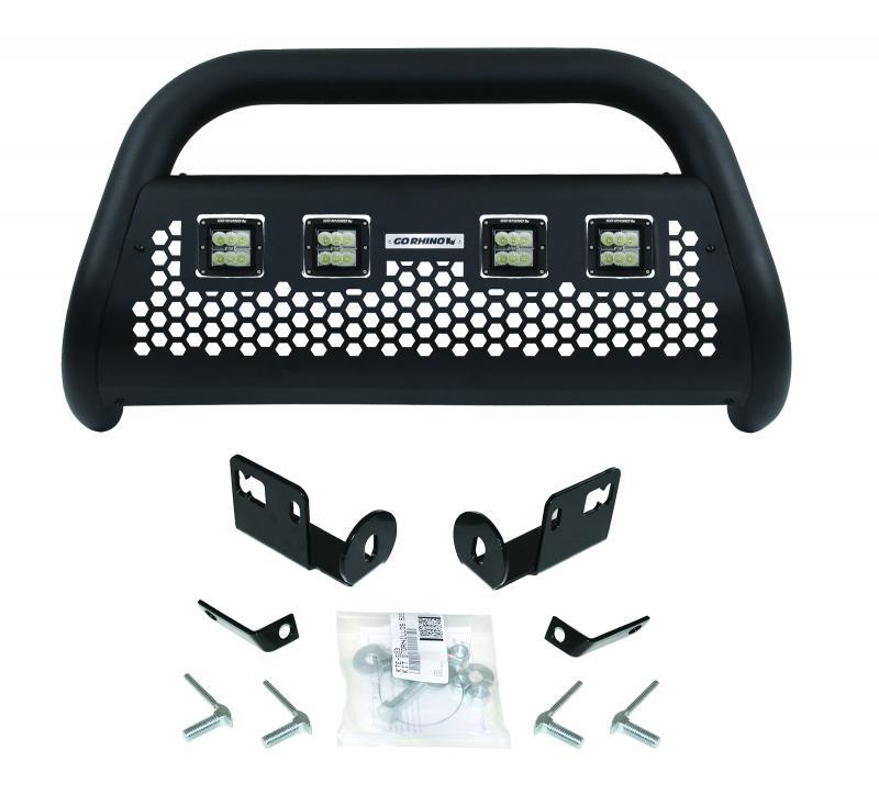 RC2 LR Bull Bar with 4 Go Rhino 55144LT Branded 3 Cube Lights & Brackets