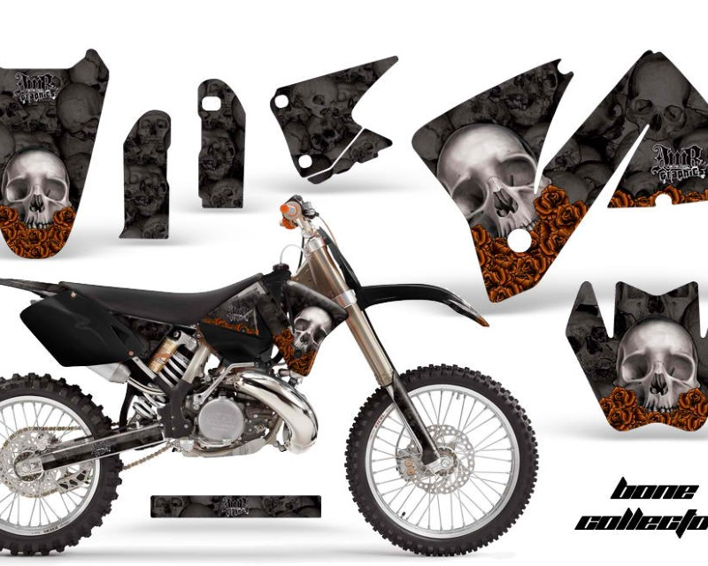 AMR Racing Dirt Bike Decal Graphic Kit Wrap For KTM EXC 200-520 MXC 200-300 2001-2002áBONES BLACK