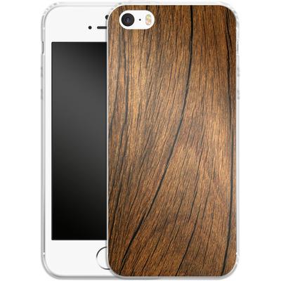 Apple iPhone 5s Silikon Handyhuelle - Wood von caseable Designs