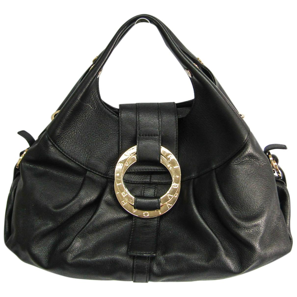Bvlgari \N Handtasche in  Schwarz Leder