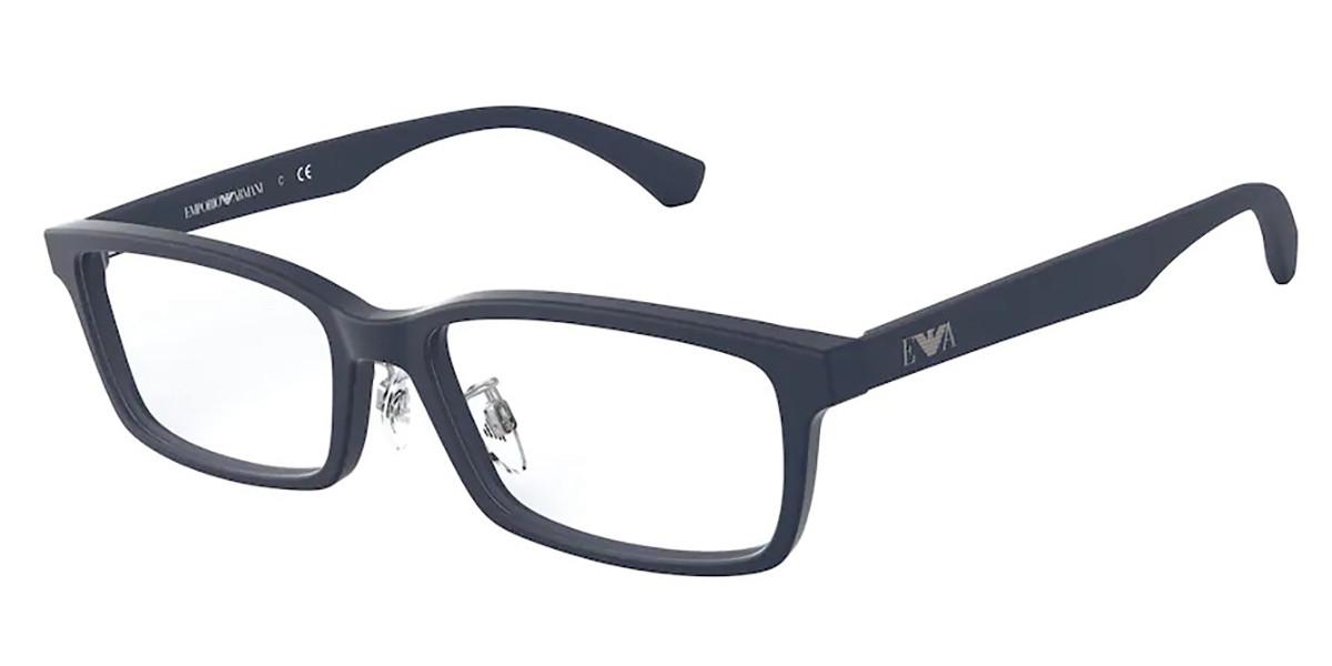 Emporio Armani EA3167D Asian Fit 5754 Men's Glasses Blue Size 56 - Free Lenses - HSA/FSA Insurance - Blue Light Block Available