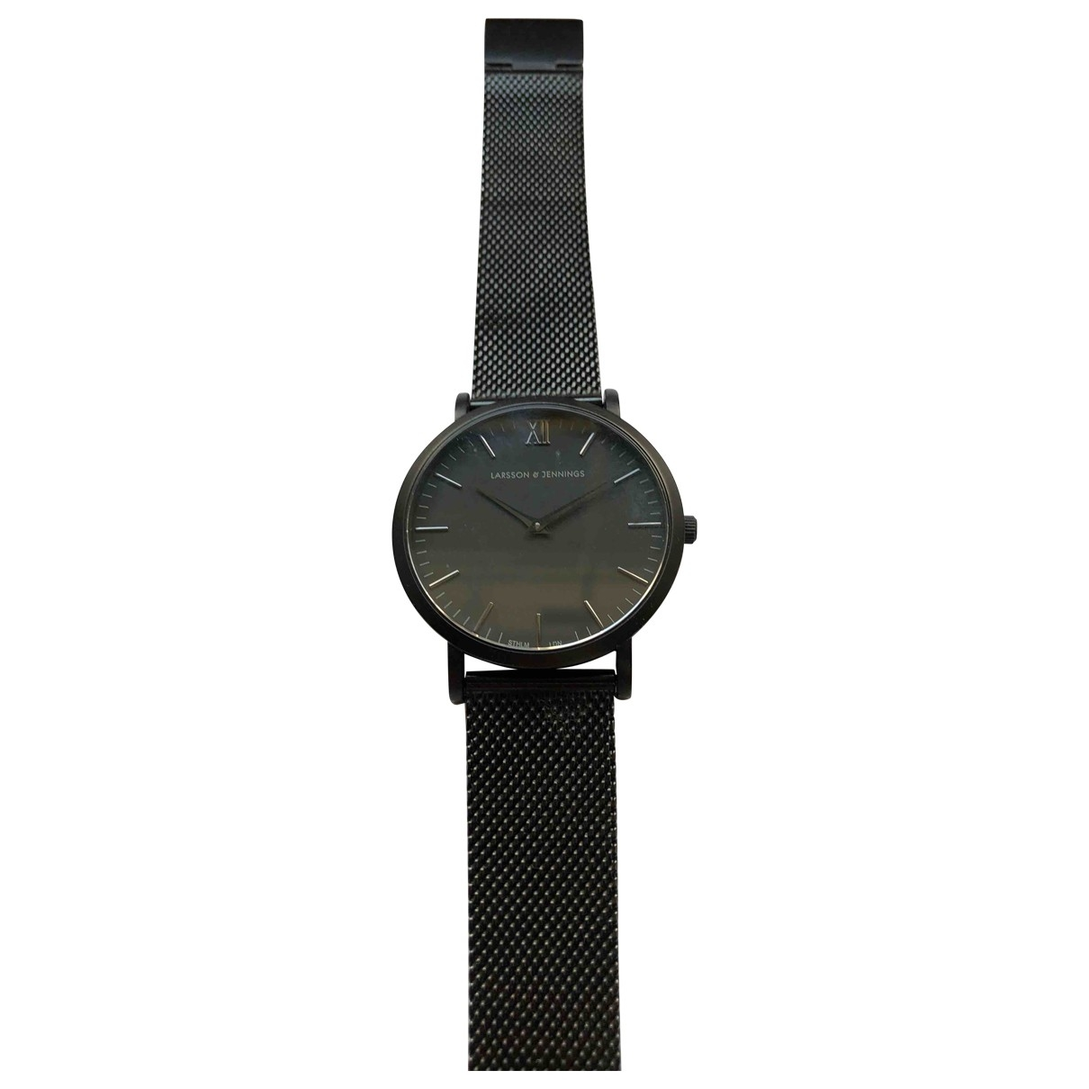 Larsson & Jennings \N Black Steel watch for Men \N