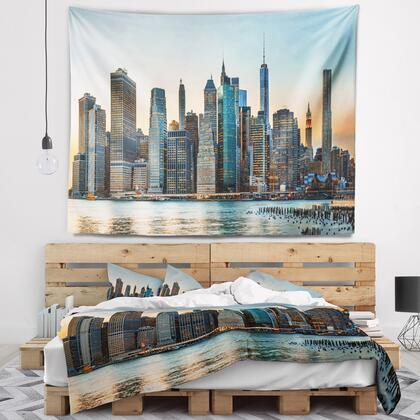 TAP7087-80-68 New York City Skyline - Photography Wall Tapestry -
