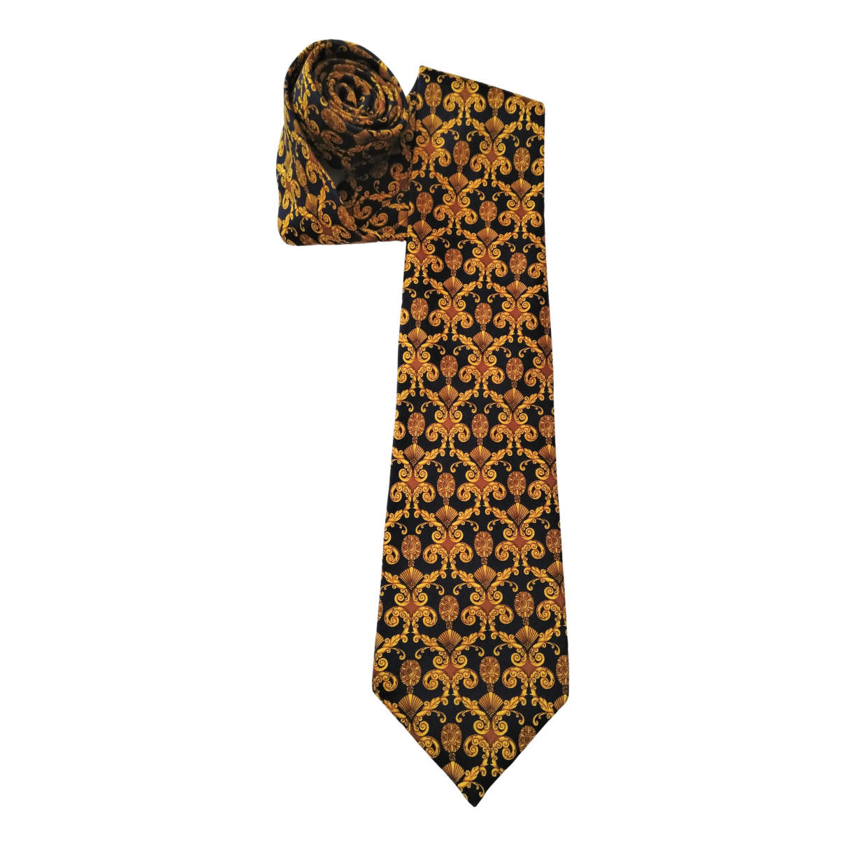 Lanvin - Cravates   pour homme en soie - jaune