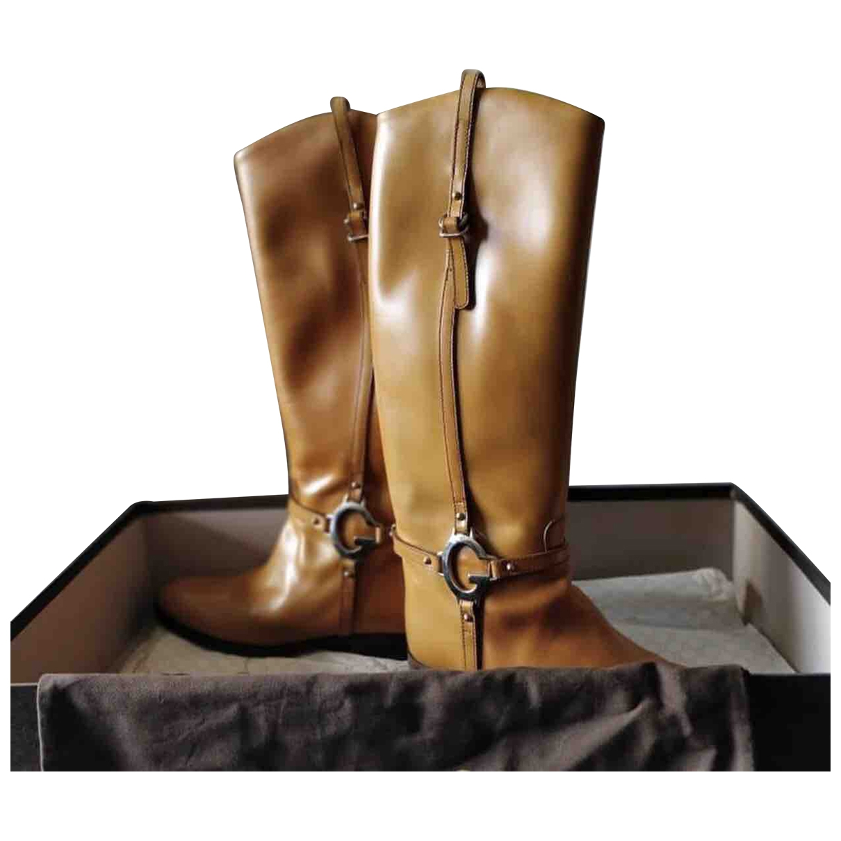 Gucci \N Camel Leather Boots for Women 39 EU
