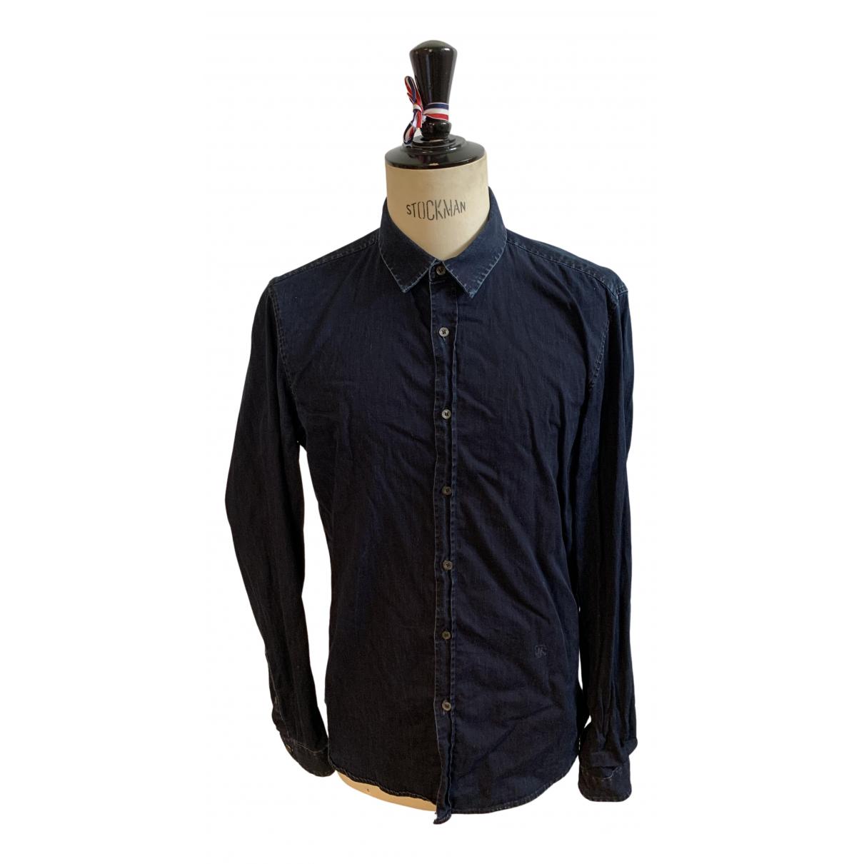 The Kooples \N Hemden in  Marine Baumwolle