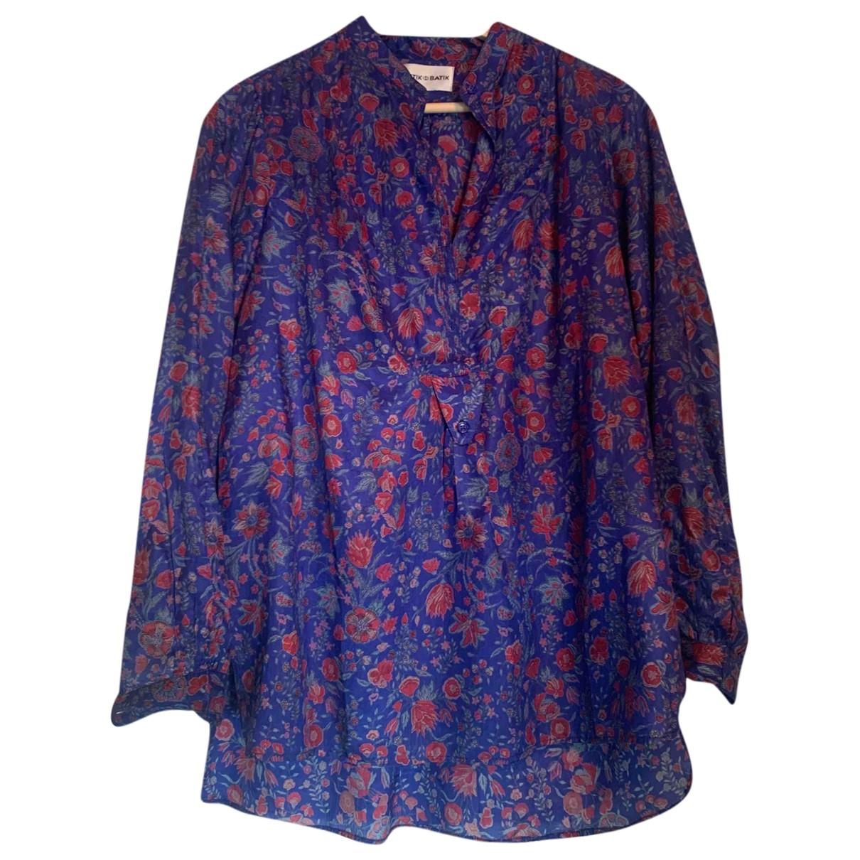 Antik Batik \N Top in  Blau Seide