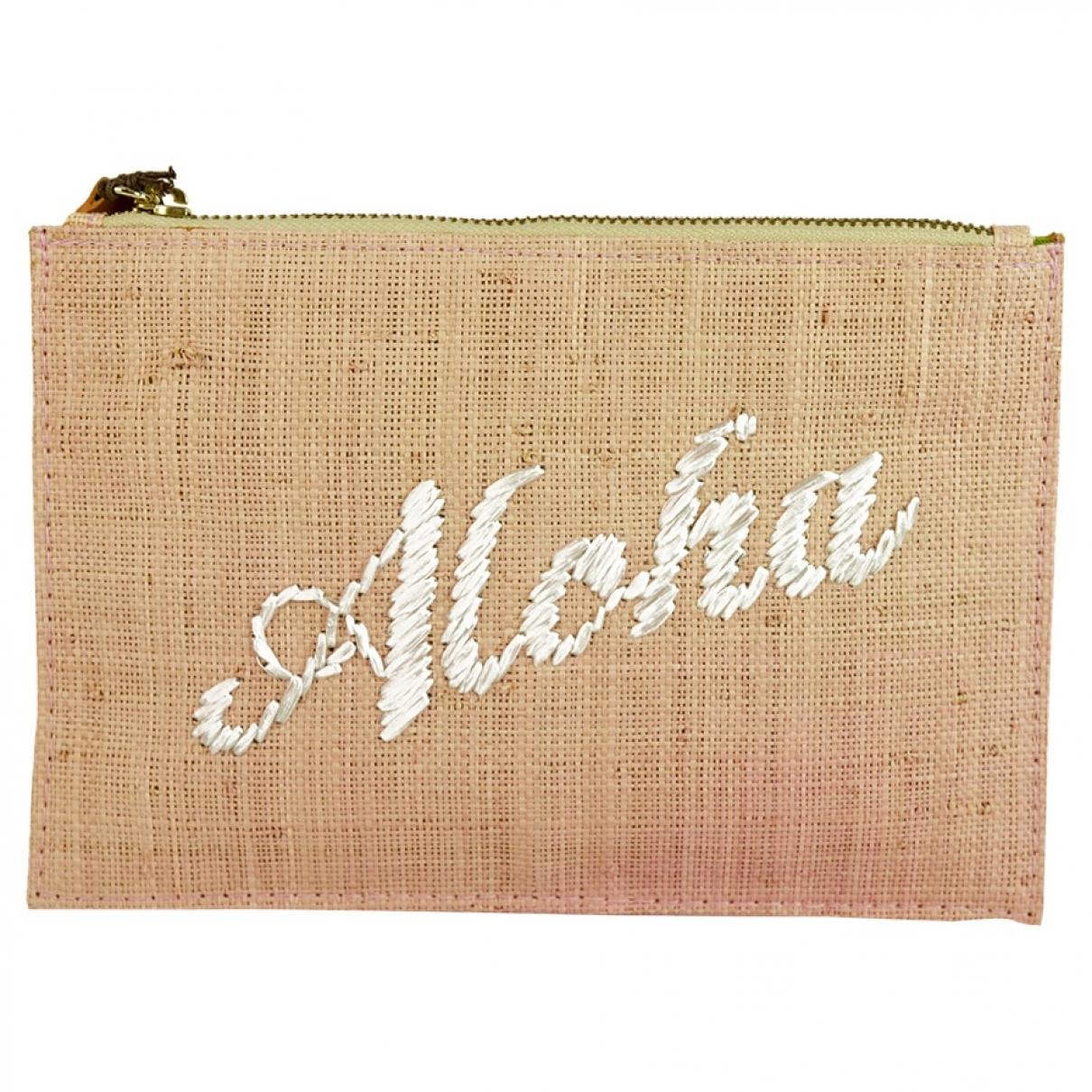 Kayu \N Pink Wicker Clutch bag for Women \N