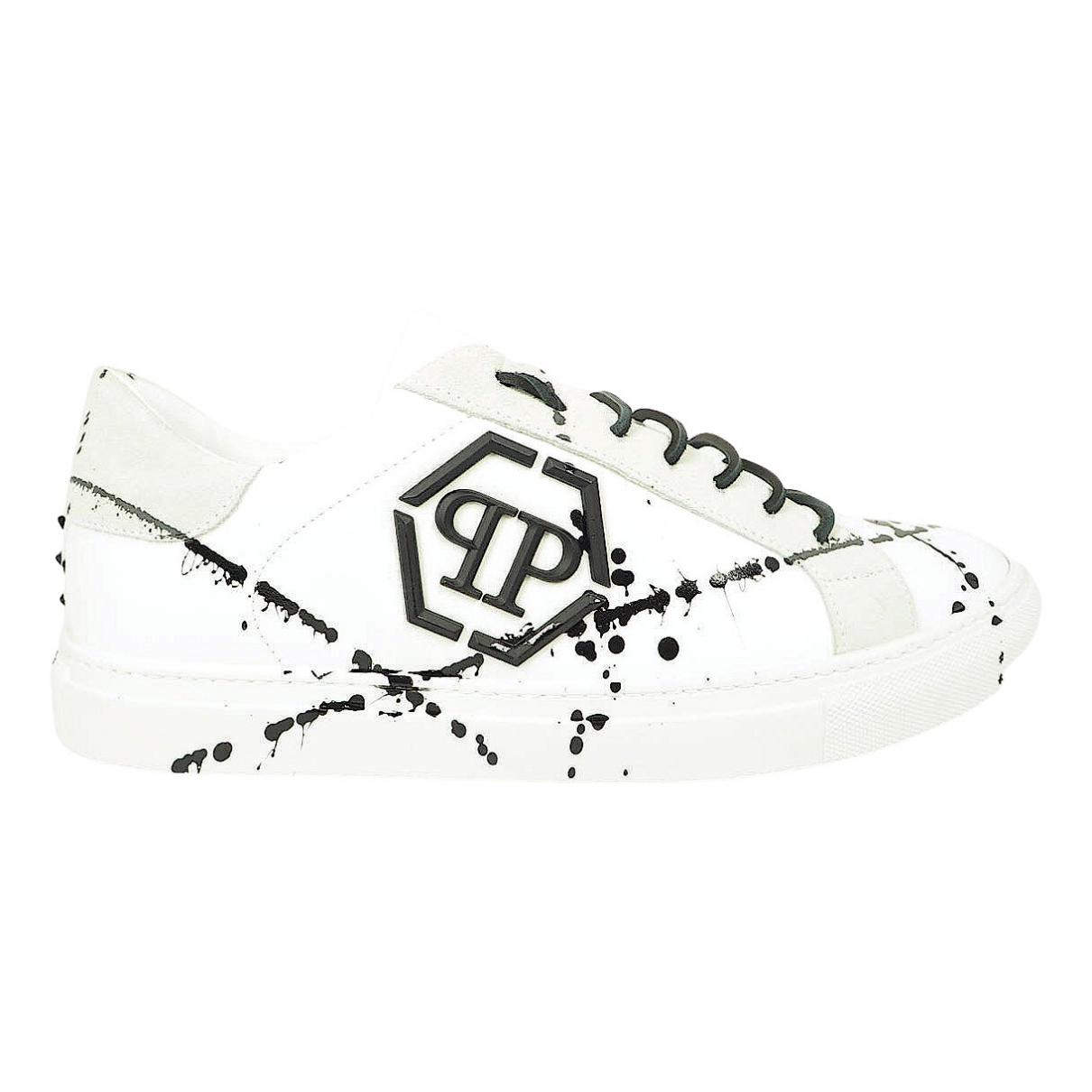 Philipp Plein - Baskets Lo-Top pour homme en cuir - blanc