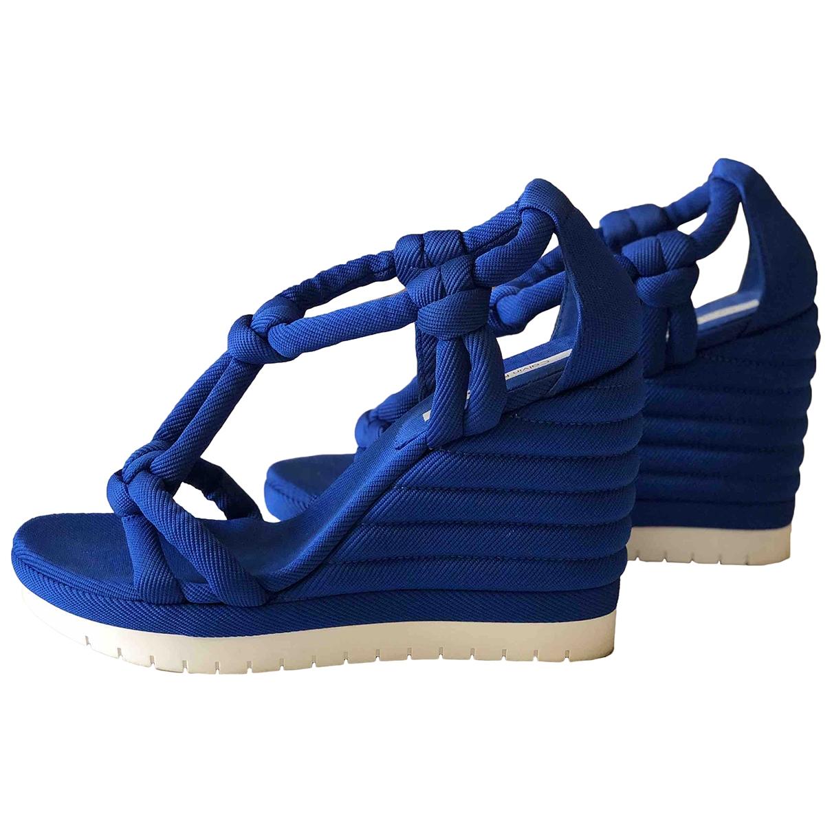 Calvin Klein \N Sandalen in  Blau Tweed