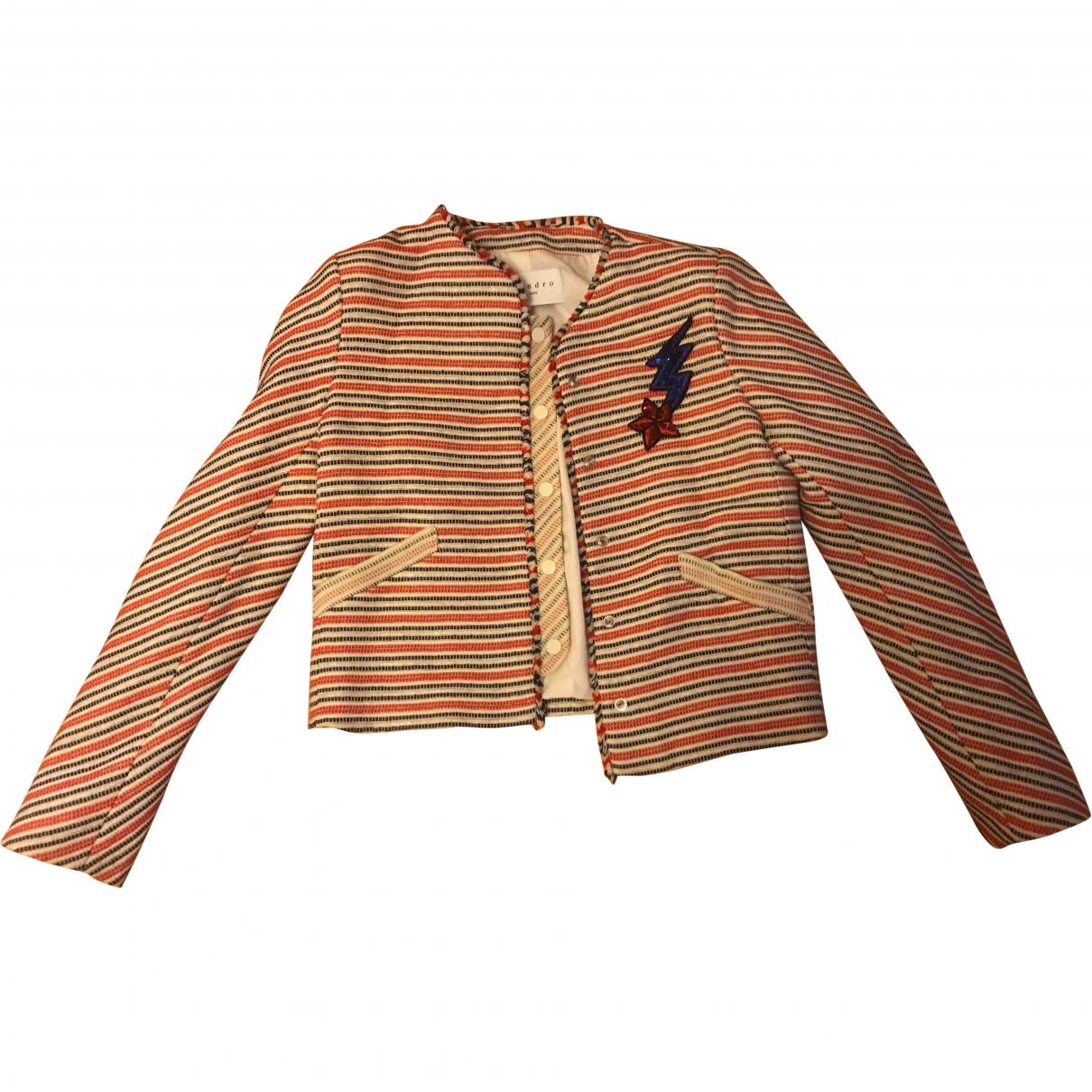 Sandro \N Multicolour Cotton jacket for Women 36 FR