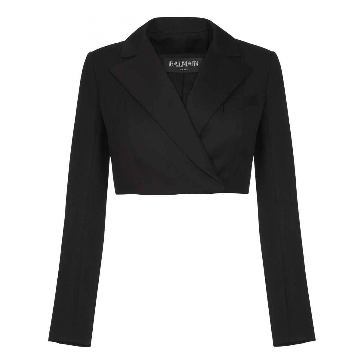 Balmain N Black Wool jacket for Women 6 UK