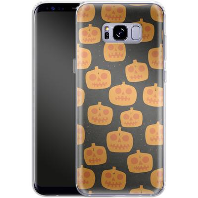 Samsung Galaxy S8 Plus Silikon Handyhuelle - Pumpkin Pattern von caseable Designs