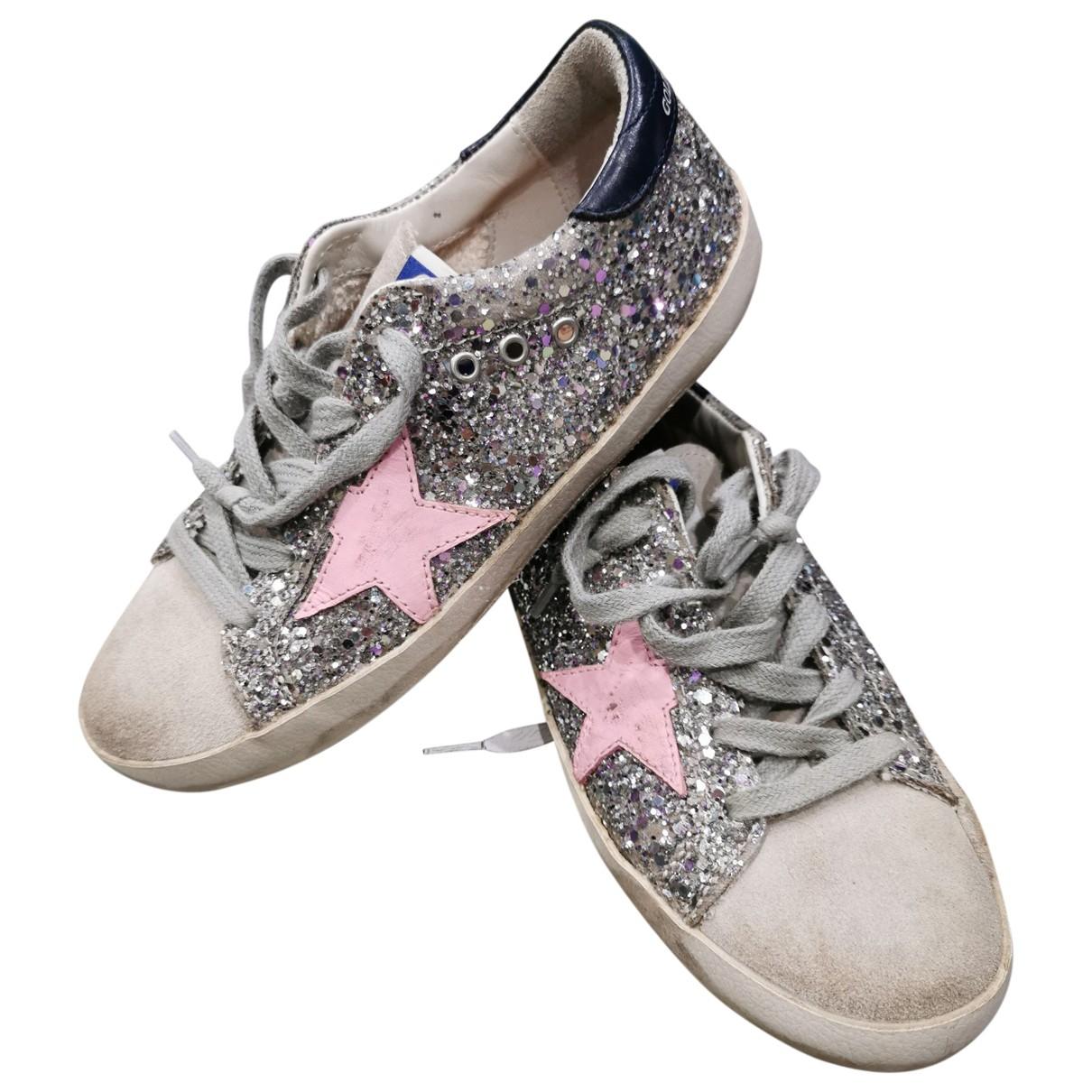 Golden Goose \N Sneakers in  Silber Mit Pailletten