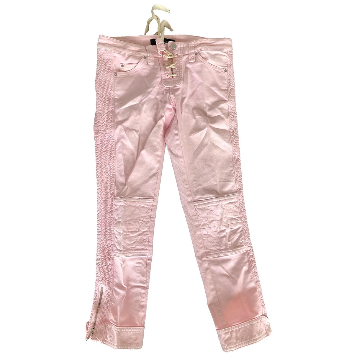Isabel Marant Etoile \N Pink Denim - Jeans Trousers for Women 0 0-5