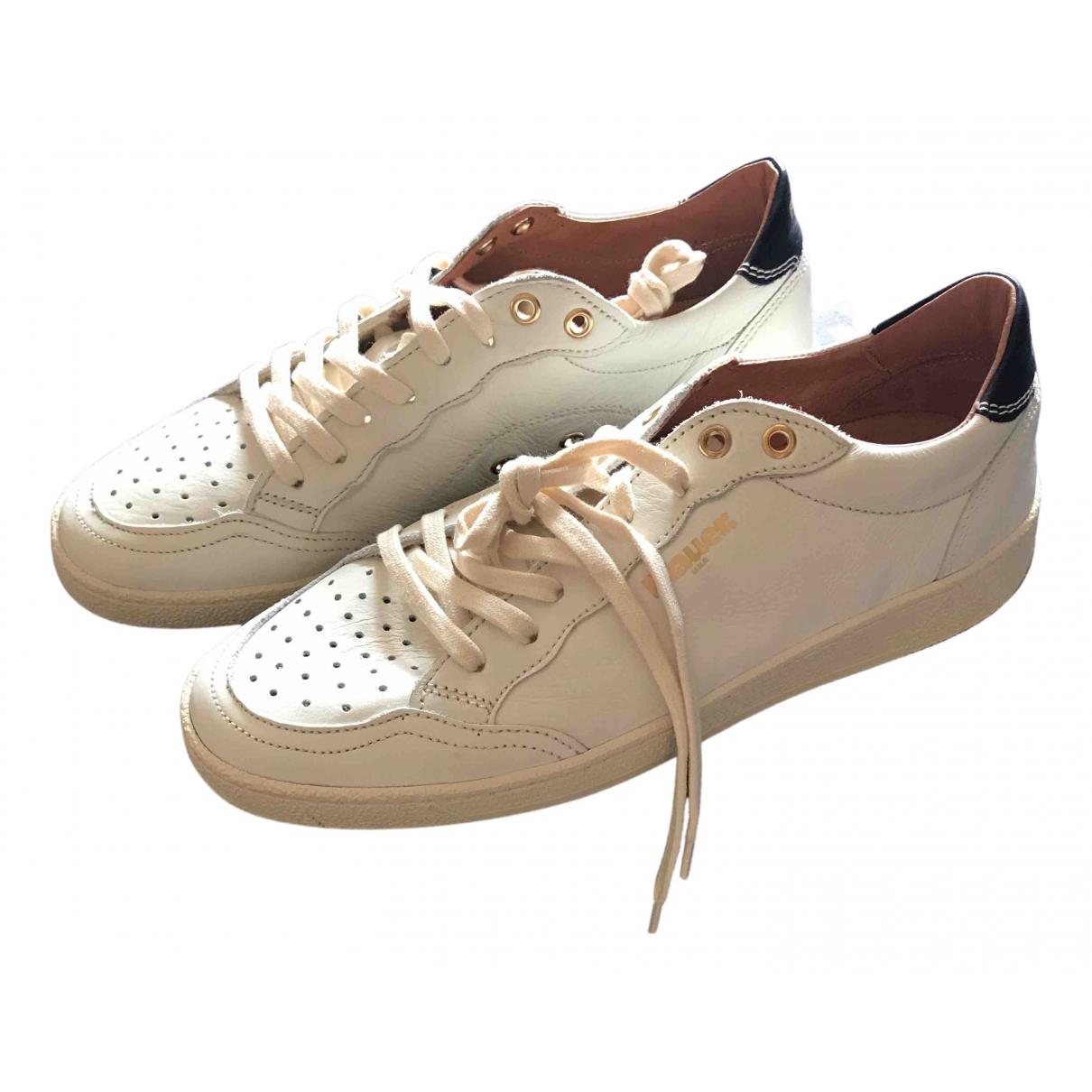 Blauer \N Sneakers in  Weiss Leder