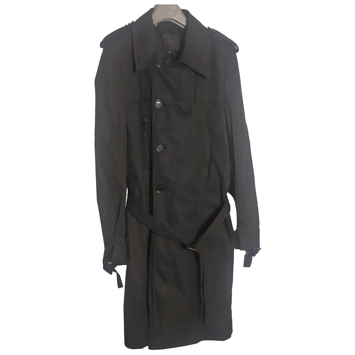 John Richmond - Manteau   pour homme en coton - noir