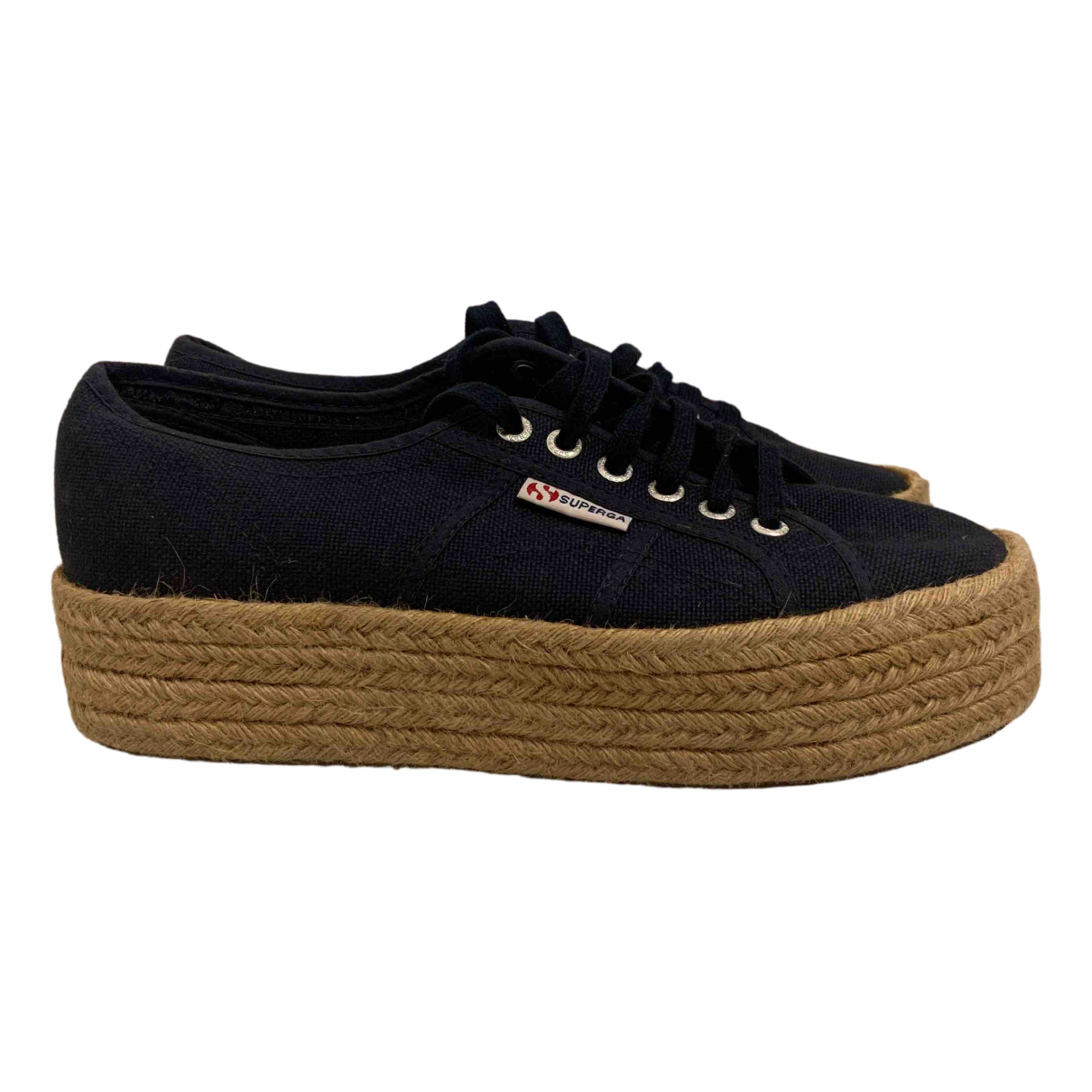 Superga N Blue Cloth Trainers for Women 40 IT