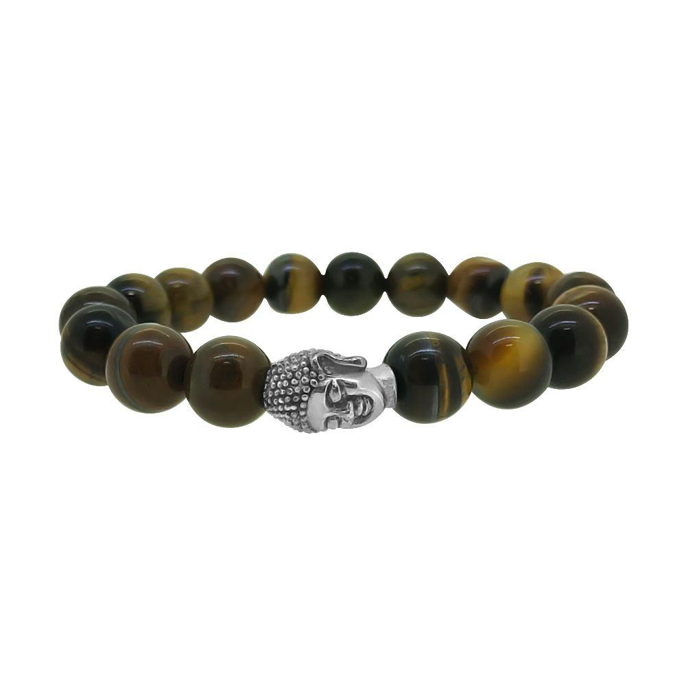 Buddha Tiger Eye Beads Fashion Bracelet
