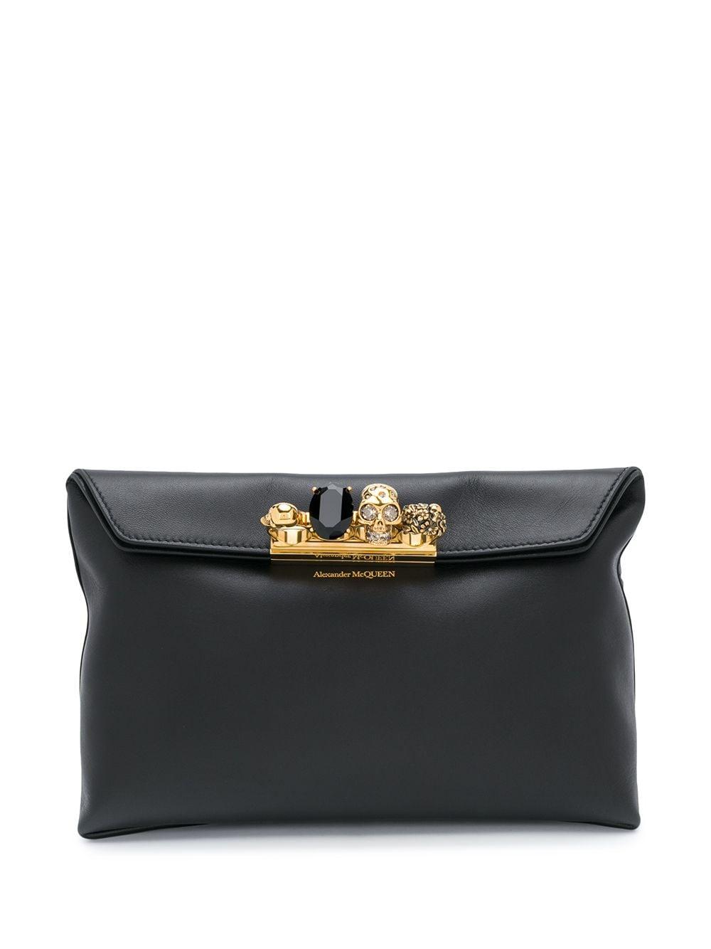 Four Ring Leather Mini Bag