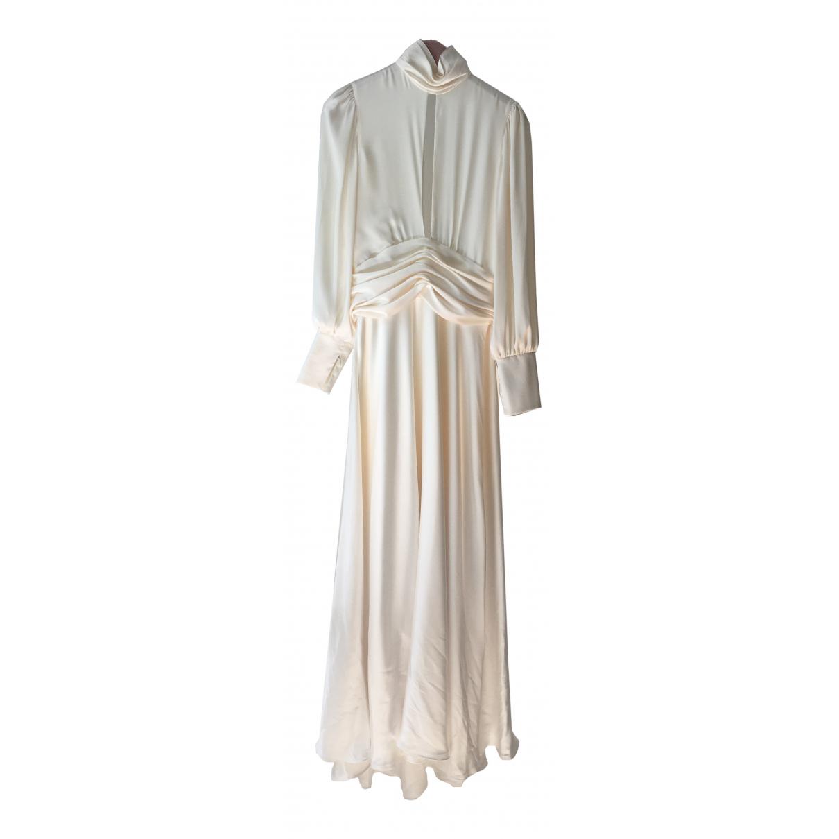 Orseund Iris - Robe   pour femme en soie - blanc