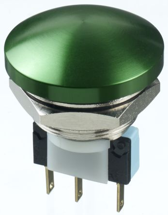 APEM Double Pole Double Throw (DPDT) Momentary Push Button Switch, IP65, 22.2 (Dia.)mm, Panel Mount, 250V ac