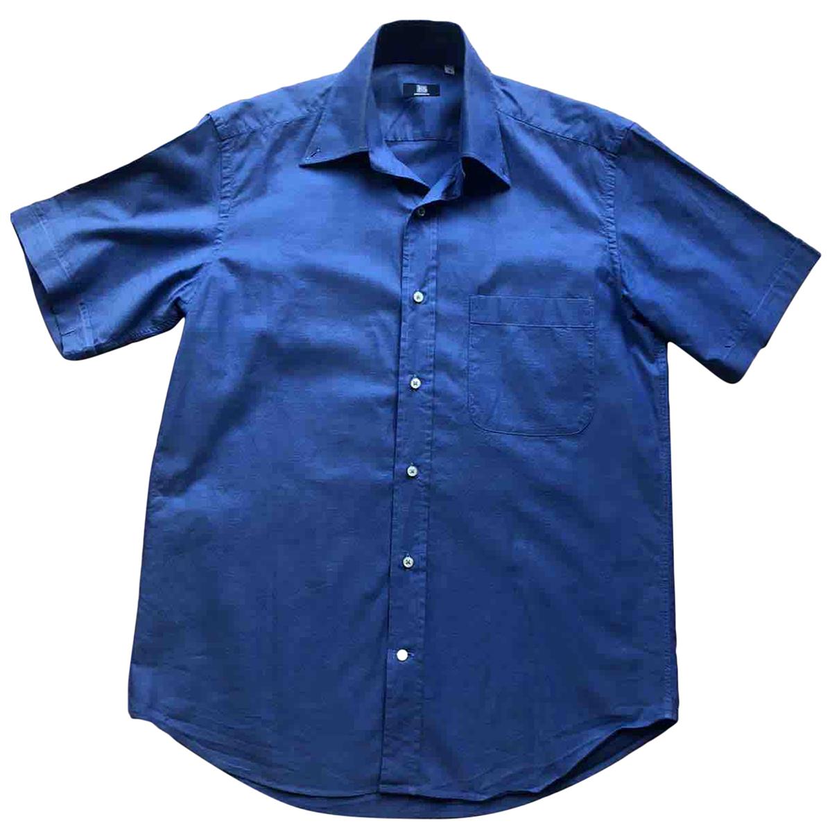 - Chemises   pour homme en coton - bleu